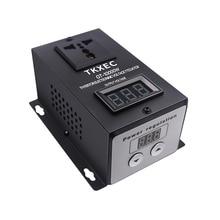 AC 220 V 10000 W SCR Elektronik Voltaj Regülatörü Sıcaklık Hız Ayarı Denetleyicisi Karartma Dimmer Termostat