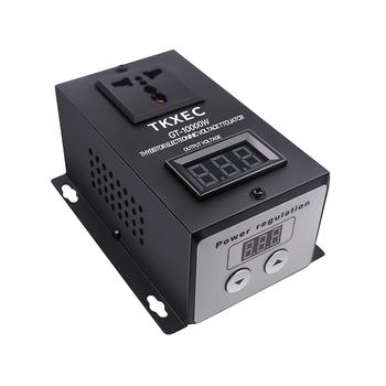 AC 220V 10000W SCR elektroniczny regulator napięcia regulacja prędkości regulator ściemniania ściemniacz termostat tanie i dobre opinie Jednofazowy TKXEC Voltage Regulator