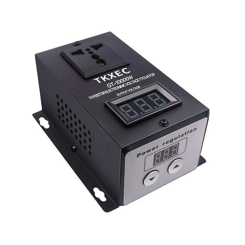 Regulador de voltaje electrónico SCR AC 220V 10000W regulador de velocidad de temperatura ajuste del controlador regulador de intensidad termostato