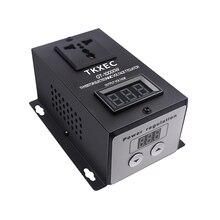 Электронный регулятор напряжения SCR, 220 В переменного тока, 10000 Вт, контроллер температуры, скорости, диммерный термостат