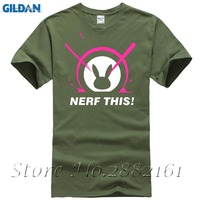 OW D Va Nerf This Men T Shirt Game Fans Fashion Summer Tee Shirt Homme O