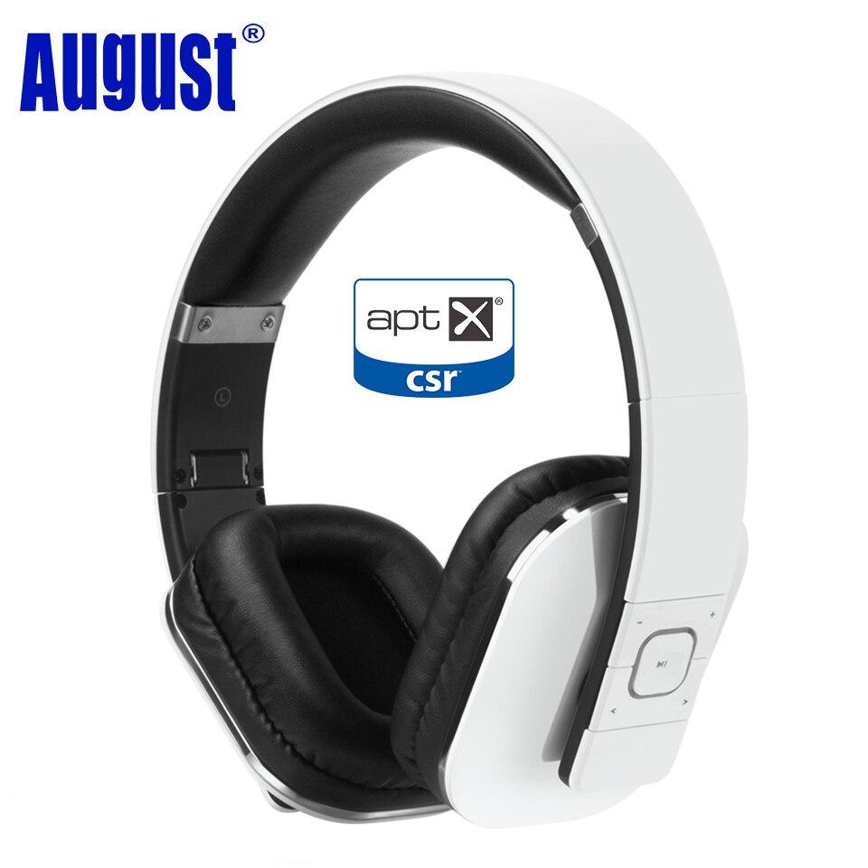 August EP650 Bluetooth Kopfhörer mit Mic Über Ohr Stereo Bluetooth 4,1 Headset aptX Wireless Kopfhörer für TV, telefon-Weiß