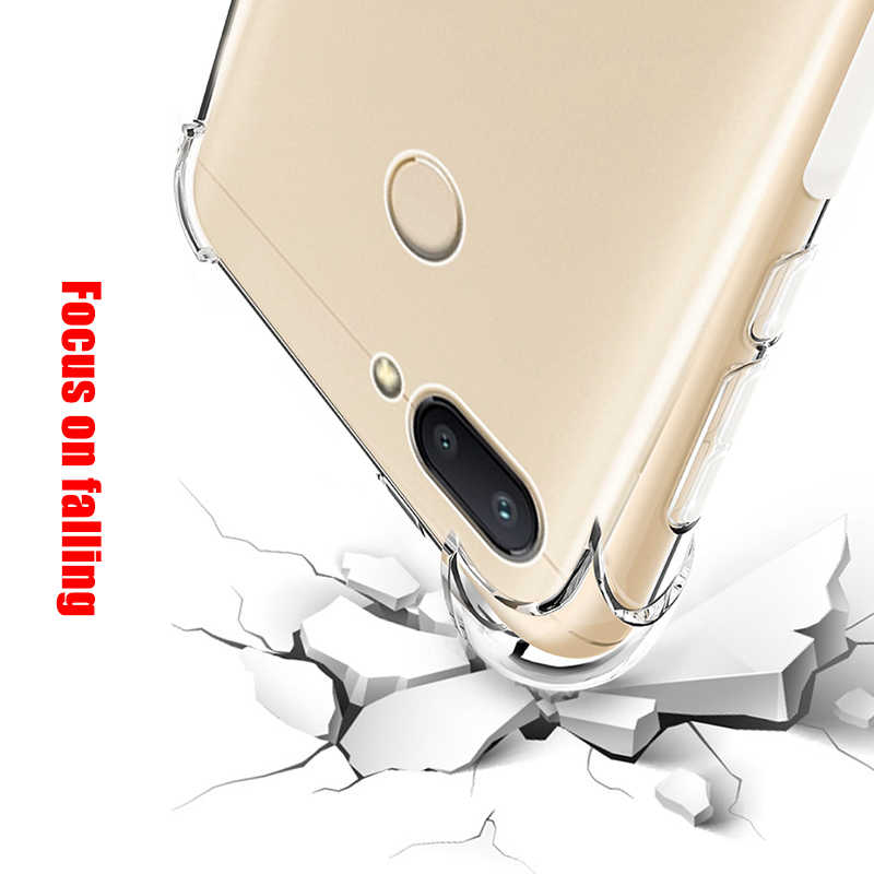وسادة هوائية قضية الهاتف ل شاومي Redmi 7 نوت 7 6 5 برو 6 6A 5 زائد Mi8 9 SE 6 Mi A1 A2 لايت 6X Pocophone F1 للصدمات Coque كابا