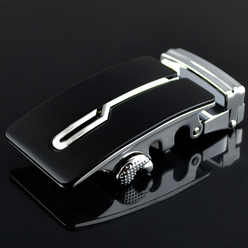 Designers Brand Automatic Belt Buckle For Men High Quality Alloy Material Belt Buckle Head For 3.5cm Width Belt Black CE699-01