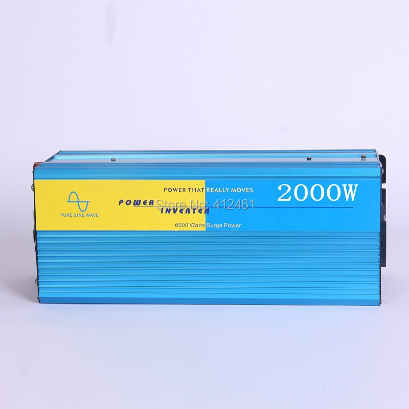 2000W Power Inverter Pure Sine Wave  DC 12V to AC 220V Solar/Wind/Car/Gas Power Generation Converter PSW inverter power inverter pure sine wave dc12v to ac 220v 1500w peak 3000watt converter for solar wind gas
