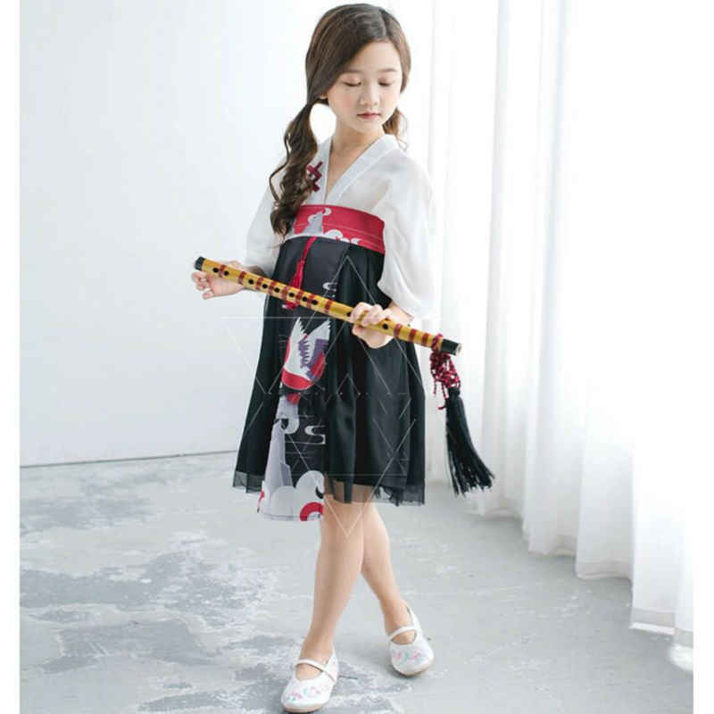 f46f89e76d Detail Feedback Questions about Japanese Traditional Cosplay Costumes Girl  Bathrobe Yukata Lace Kimono Cardigan Dresses For Kids Girls Printed Crane  Kimono ...