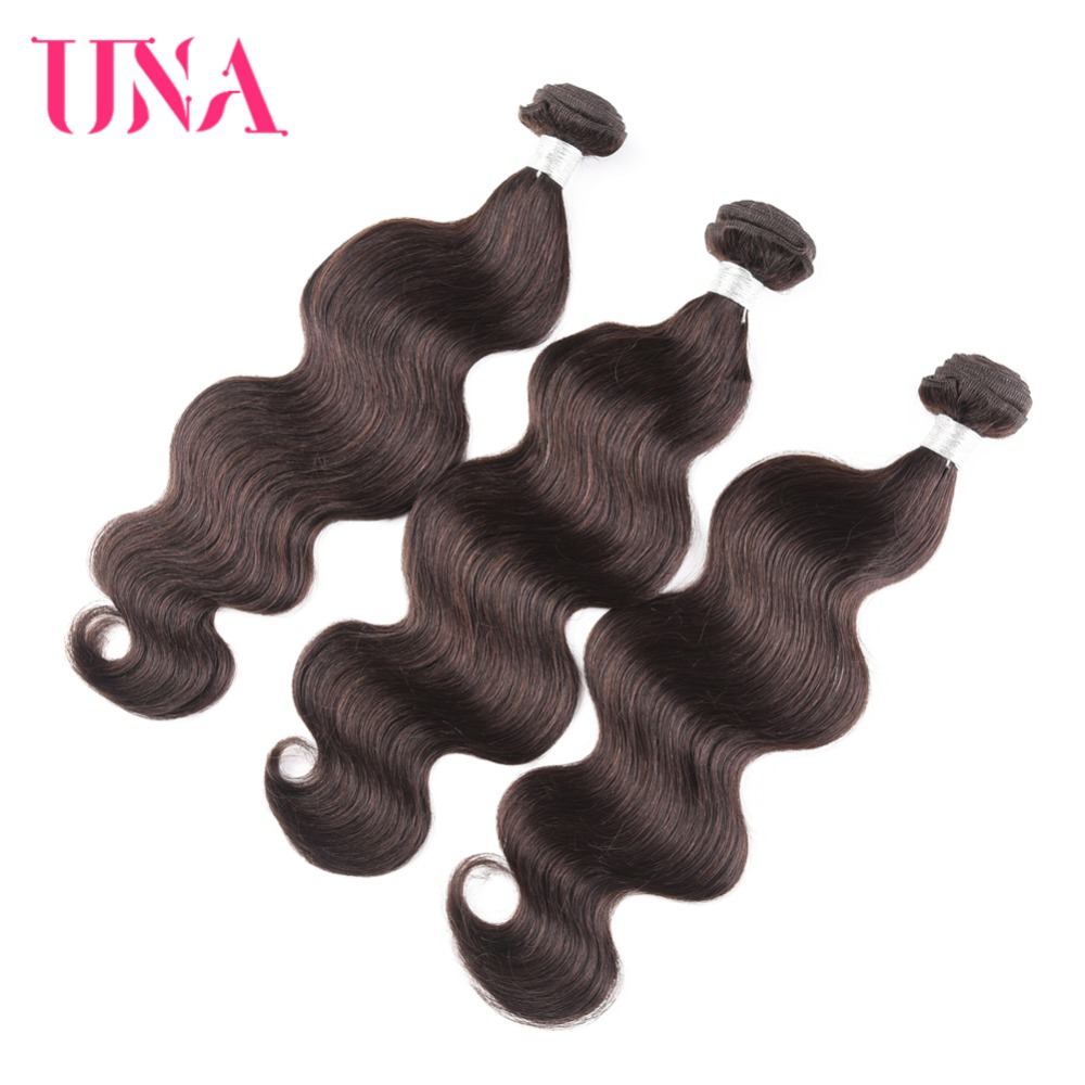 UNA Brazilian Hair Weaves 3 Bundles Deal Body Wave Color # 2 Pelo - Cabello humano (negro)
