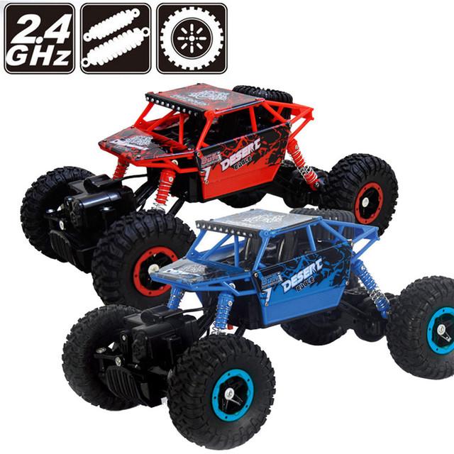 Alta Qualidade 1/14 2.4 GHZ 4WD Rádio Controle Remoto Off Road atv de buggy rc carro monster truck toys presente para as crianças atacado