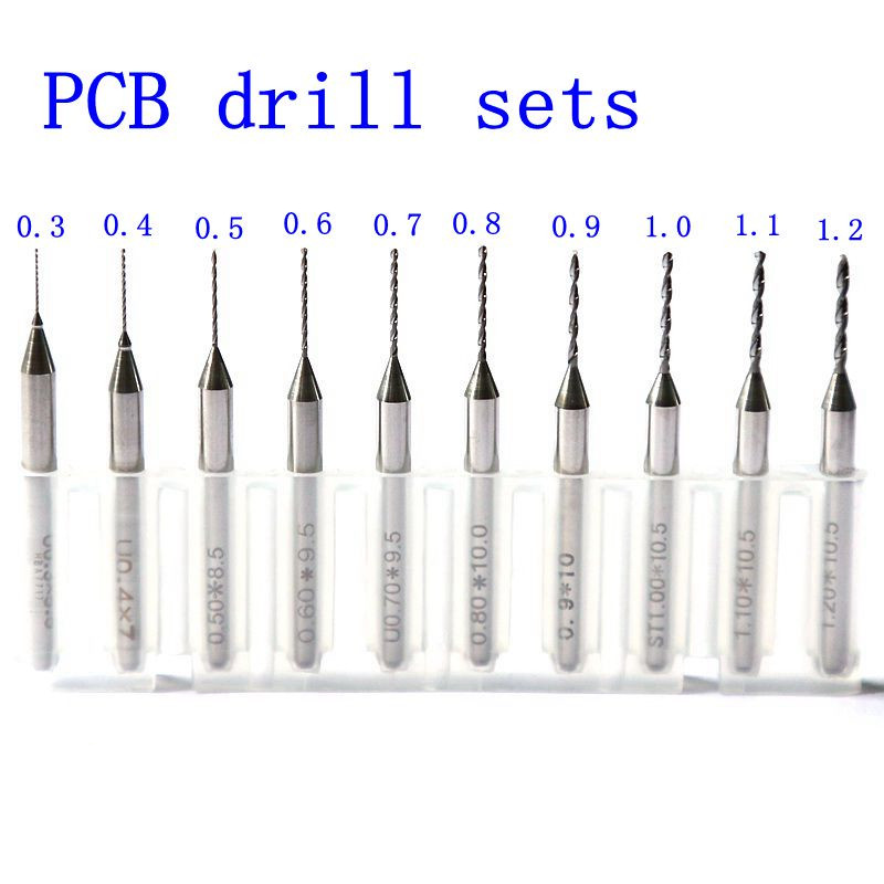 drill machine 10 pieces of 0 3mm 1 2mm drill without ring imports carbide pcb bit  printed