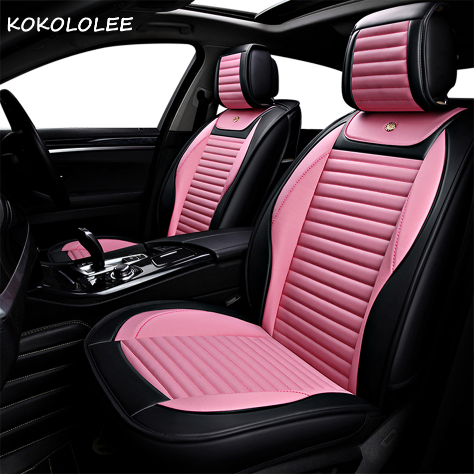 2018 New Luxury PU Leather Auto Universal Car Seat Covers Automobile seat cover for car peugeot 206 for car lada kalina in hot