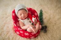 Christmas Outfit Photo Prop Newborn Bonnet and Romper Set Knitted Mohair Overalls Newborn Scarf Baby Santa Claus Hat