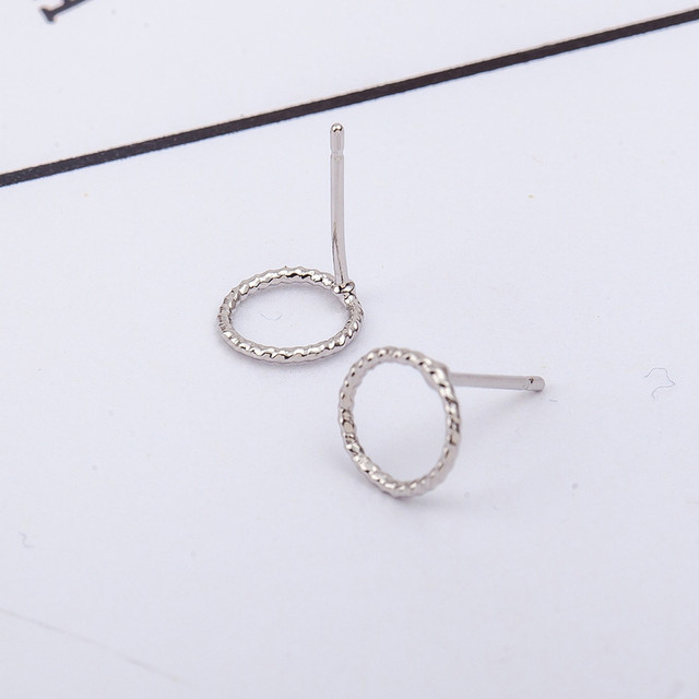 Twist Open Circle Earrings