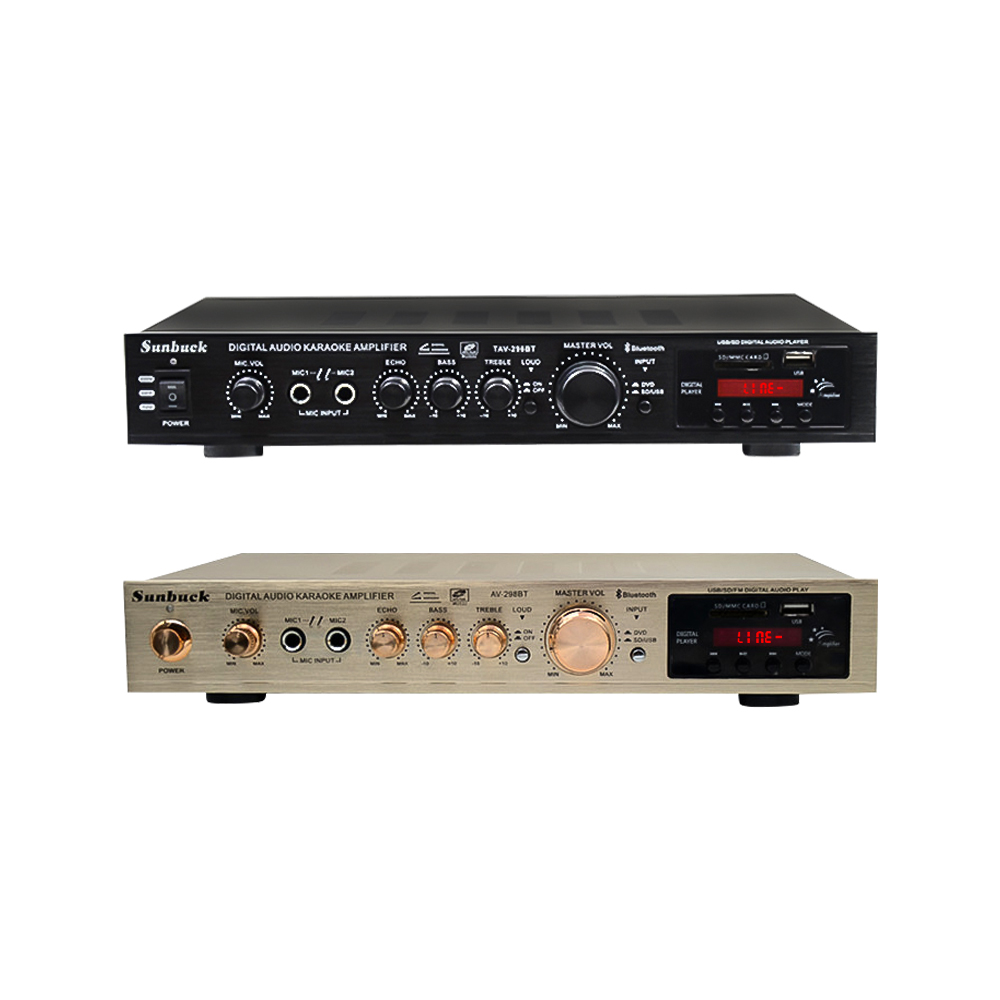 SUNBUCK 200W+200W 220V FM SD USB Remote Control 5 Channel Bluetooth 4.1 Stereo Digital AV Surround Amplifier Karaoke Theater