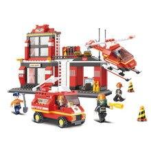 Qunlong Fire Control Center Urgent Move Utvecklingsbyggnadsblock Toy Compatibl Blocks Minecrafted För Kid Holiday Gift