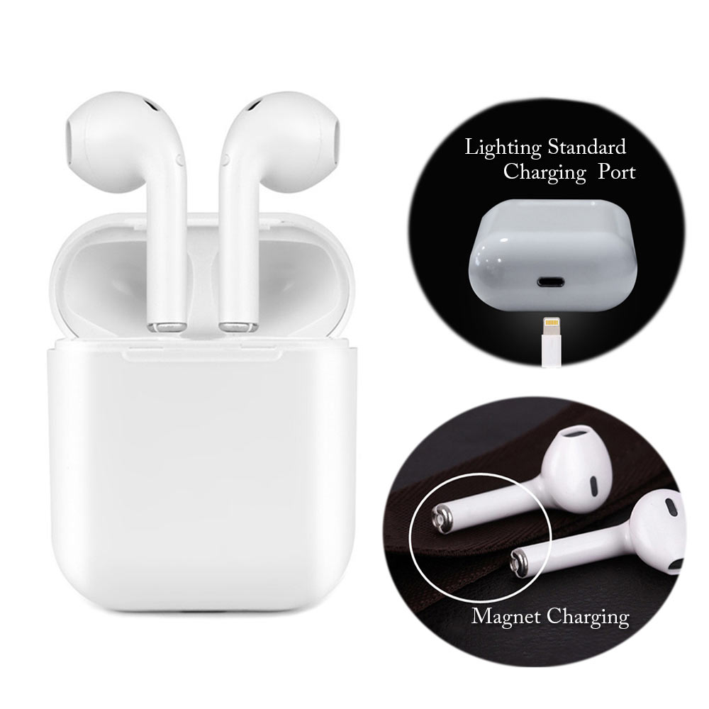 Magnetische Ladegerät Box Earbuds IFANS I9 TWS Bluetooth Kopfhörer Mini Drahtlose In-Ear Headset V4.2 Stereo Kopfhörer Für IOS Android