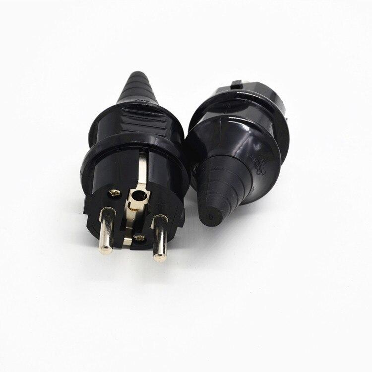 10 шт. ЕС AC адаптер питания розетка Германия 2 контакта Elcectrical AC 250V 16A ЕС шнур питания кабель онлайн разъем питания