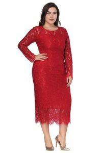 Image 3 - נשים בתוספת גודל אלגנטי ערב שמלות 2020 זול מלא תחרה קוקטייל המפלגה שמלות לבן לבוש הרשמי ארוך שרוול גלימת דה soiree