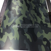1.52x30m Dark Green Camouflage Vinyl Wrap Film Auto Sticker Vinyls Film Camouflage Car Wrap for Car Wrapping by free shipping