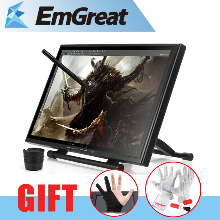 UGEE UG-1910B Professional 19 Inches LCD Monitor Art Graphic Tablet Drawing Digital Tablet Digitalizer Board + Glove as Gift ugee ug2150 21 5 inch graphic drawing monitor stylus pen display graphic tablet with screen ips panel for macbook imac windows