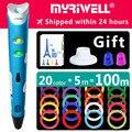 Myriwell 3d stift 3d stifte, 1,75mm ABS/PLA Filament, 3d modell, 3d drucker pen-3d magic pen Kinder geburtstag präsentieren Weihnachten präsentieren