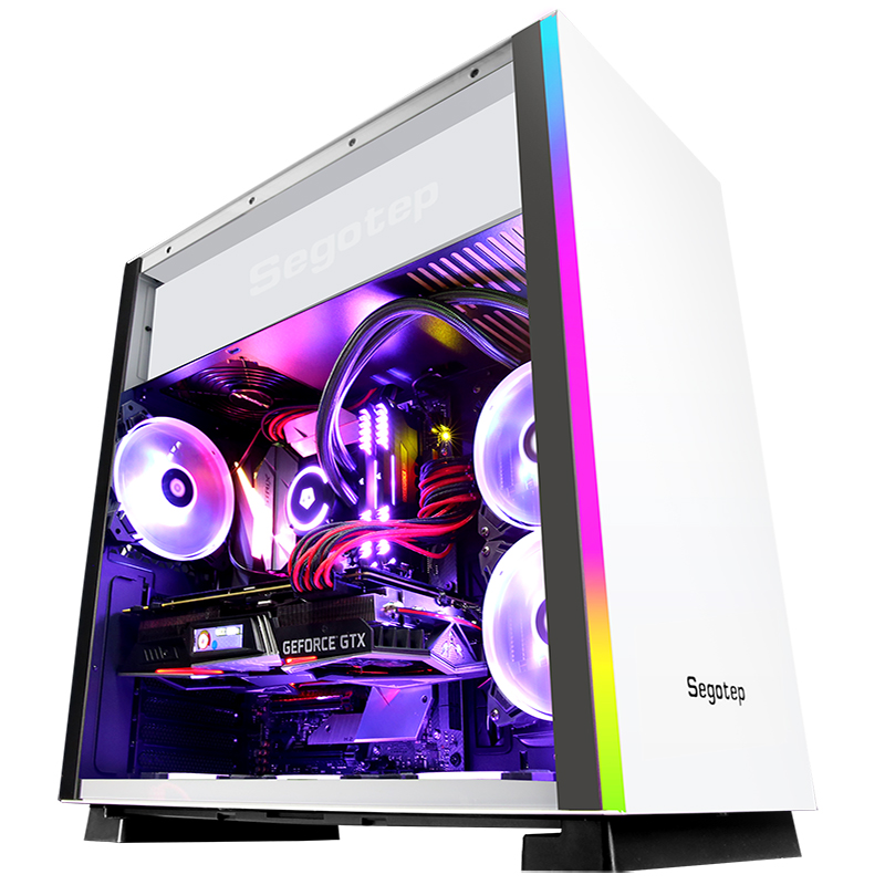 GETWORTH S11 I7 8700K Gaming PC Desktops Computer Intel Core GTX1070Ti 16GB DDR4 3000MHz Intel 256GB SSD Free RGB Fans High End getworth s9 amd desktop ryzen5 2600 gtx1050ti 4g msi a320m intel 180g ssd 8g ram free rgb fans pubg accpet customization white