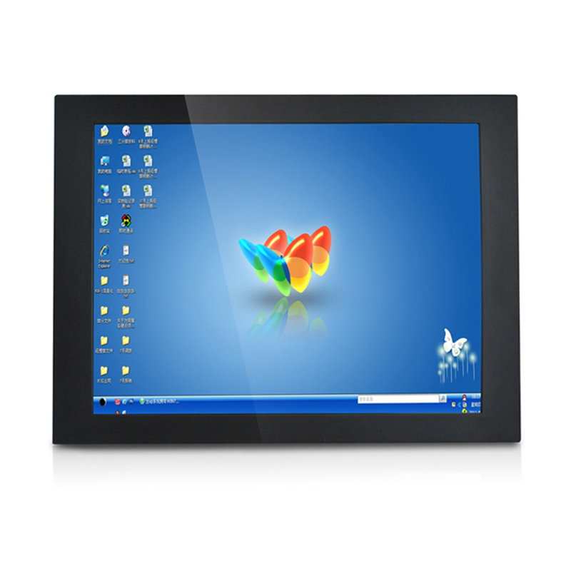 17-inch resistive screen industrial panel pc  dustproof J1900 cpu dual-core 2.41G 4G 64G  OEM WIN7 for Automation System kiosk
