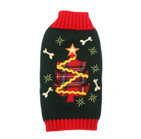 1 Pcs Autumn And Winter New Christmas Pet Sweater Knitting Pattern Teddy Dog Clothes