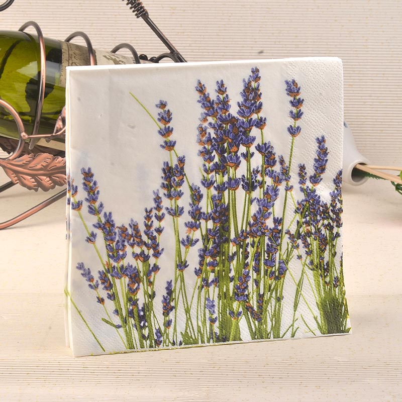 20 Pcs Purple Lavender Paper Napkins Festive Amp Party