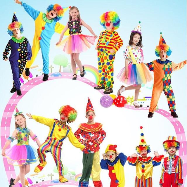 Fantasy kids girls boy Clown child Carnival girl Harley Cosplay children Quinn Fancy Party Dress halloween  sc 1 st  AliExpress.com & Fantasy kids girls boy Clown child Carnival girl Harley Cosplay ...
