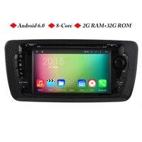 Android 6.0 8 rdzeń 2G RAM Samochodów DVD Nawigacji GPS Dla SEAT Ibiza 2009 2011 2012 2013 jednostka główna samochodowy stereo radio z 3g wifi mapa