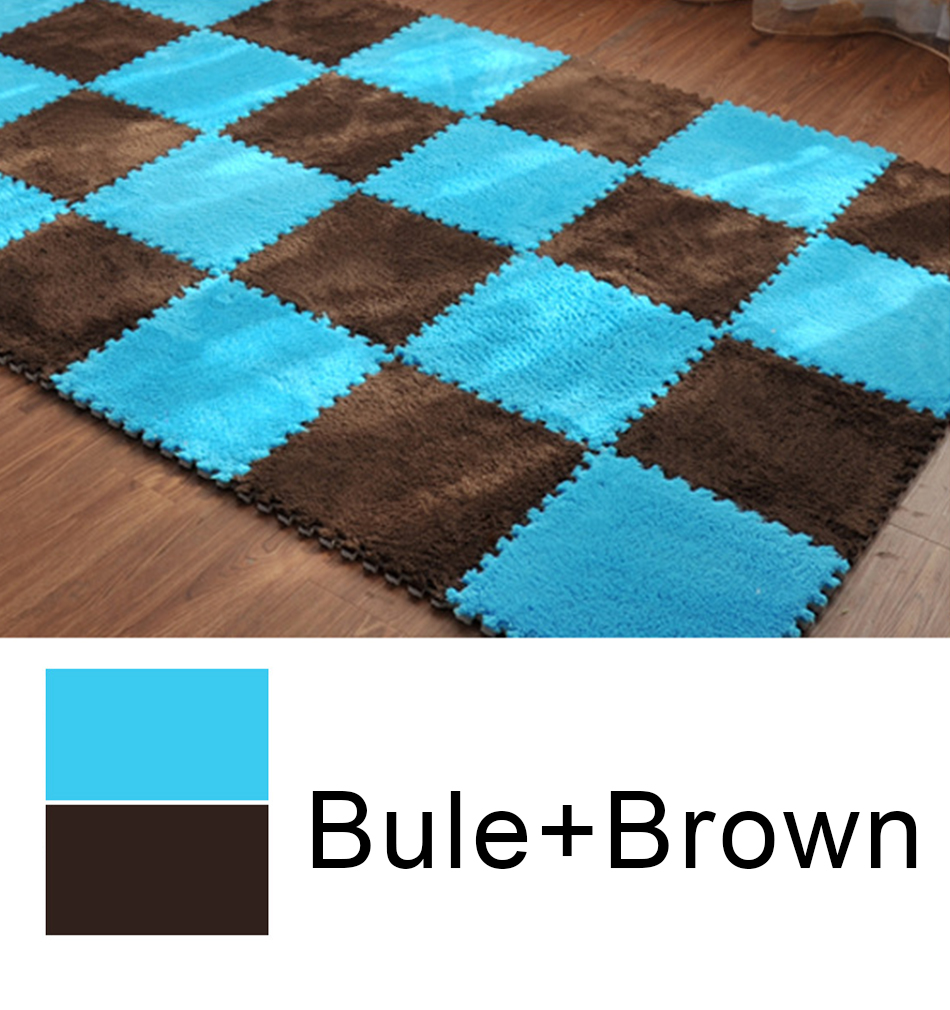 HTB1U15VXHr1gK0jSZR0q6zP8XXal 10Pcs/Lot Kids Carpet Plush Baby Play Mat For Children EVA Foam Developing Mat Puzzle Kids Soft Floor Rug Game Crawling Playmat