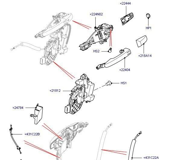 Land Rover Discovery 3 /& 4 Avant Gauche Main Door Latch Lock-LR011277