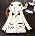 2016 Новое Прибытие Atsume Neko Косплей Костюм Kawaii Женщины Балахон Sweatershirt Мультфильм Neko Atsume Толстовки женская Одежда