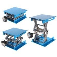 """1Pc 4 """"x 4"""" Aluminium Router Lift Tisch Holzbearbeitung Gravur Labor Heben Stehen Rack"""