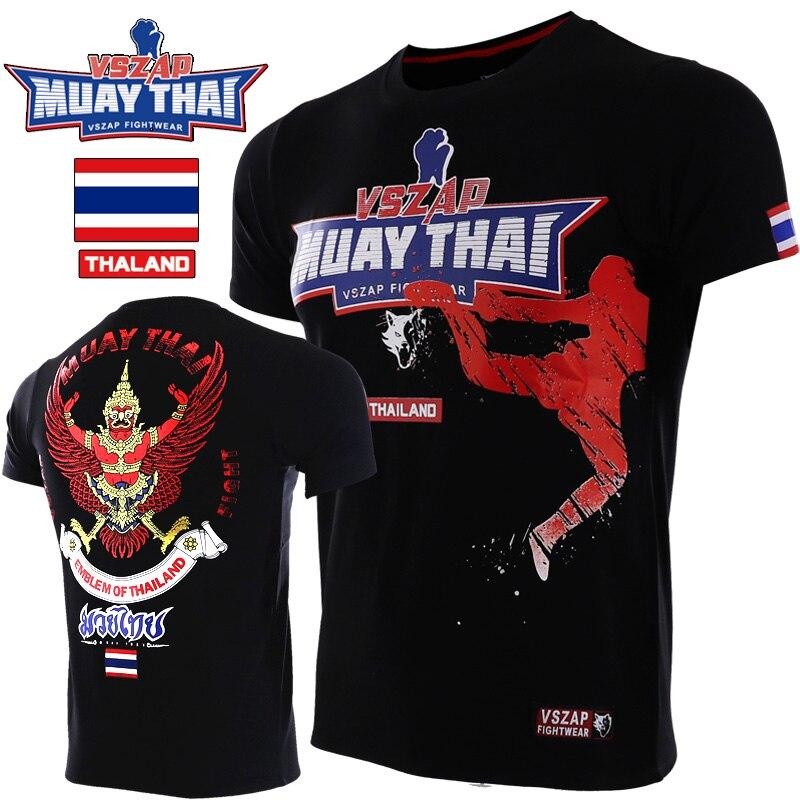 VSZAP MuayThai Tshirts GarudaMMA Boxing Sports Fighting Fitness Elasticity Tights Trousers Sweatshirts Boxing Clothing Muay Thai