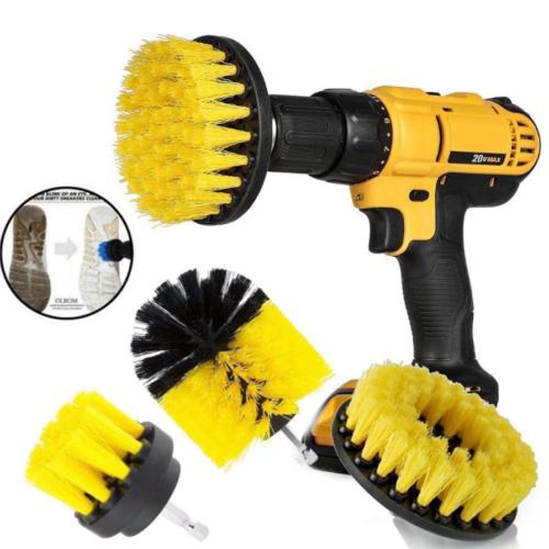 1/3pcs Household cleaning electric drill brush head for Bathroom Surfaces Tub Shower Tile Power Scrub Drill Clean electric tools