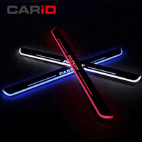 CARiD Trim Pedal LED Car Light Door Sill Scuff Plate Pathway Dynamic Streamer Welcome Lamp For Vw Volkswagen Passat B7 2012 16