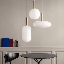 Modern White Glass Body Parlor Led Pendant Lights Restaurant Hanglamp Office Coffee Shop Pendant Lamp Loft Hanging Light Fixture