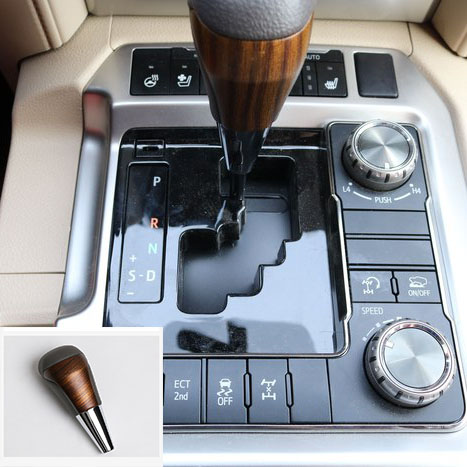 Wooden Color Automatic Transmission Gear Shift Knob For Toyota <font><b>Land</b></font> <font><b>Cruiser</b></font> <font><b>LC200</b></font> 2016 <font><b>2017</b></font> 2018 Accessories image