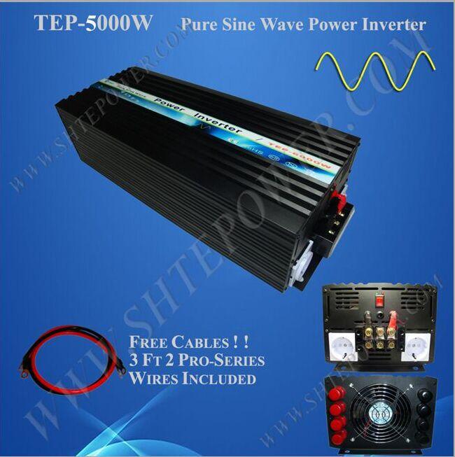 цена на 48VDC to 220v/240VAC power inverter 5000w, pure sine wave inverter 5kw for off grid solar system