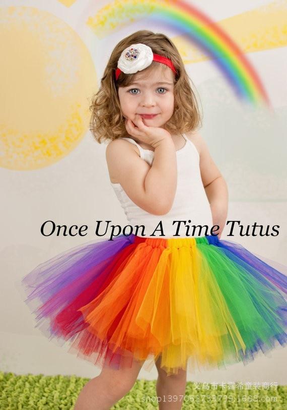 Faldas de tutú con arco iris para bebés Faldas de tul para ballet - Ropa de ninos - foto 6