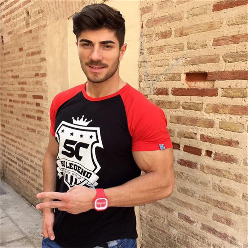 HTB1U16gp7yWBuNjy0Fpq6yssXXac 2019 new gym breathable men's muscle fitness short sleeve training bodybuilding fitness cotton sportswear T shirt clothes