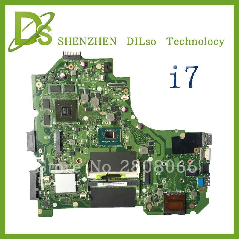 For ASUS K56CM A56C S550CM Laptop Motherboard  i7 CPU PM  Mainboard 100% tested  K56CM mainboard  Non-Integrated