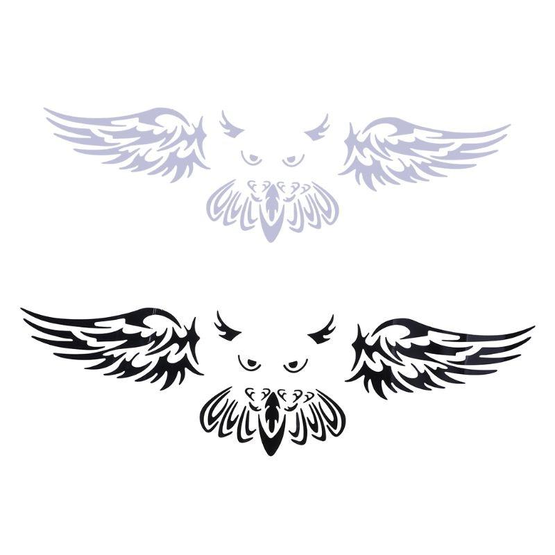 Aliauto Funny Owl Styling Car Sticker Car Rear Logo Decoration