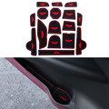16Pcs/Set Car Styling Slot Pad Interior Door Groove Mat Latex Anti-Slip Cushion For Jeep Renegade 2016 Car Internal Dedicated
