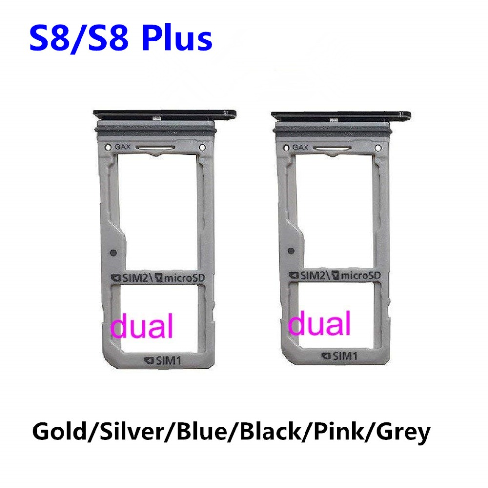 US $1 98 |Dual SIM Card Tray / Micro SD Card Tray Holder for Samsung Galaxy  S8 G950/ S8 Plus G955 New-in SIM Card Adapters from Cellphones &