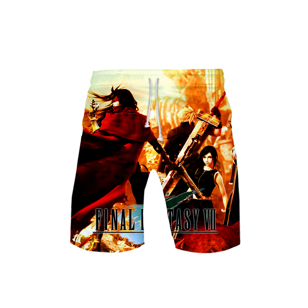 Men's 3D Final Fantasy Templar 3DBoard Shorts Trunks 2019 Summer New Quick Dry Beach Shorts Men Hip Hop Short Pants Beach Wear