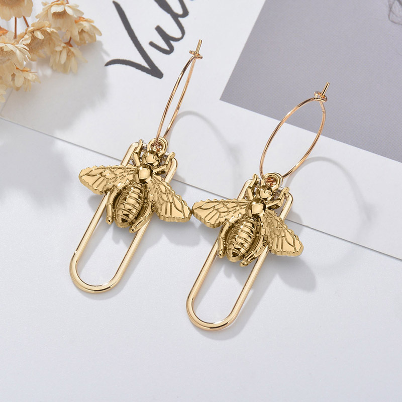 Individuality Gold&Sliver Insect Drop Earrings For Women Special Fashion Design Classic Decoration Gold