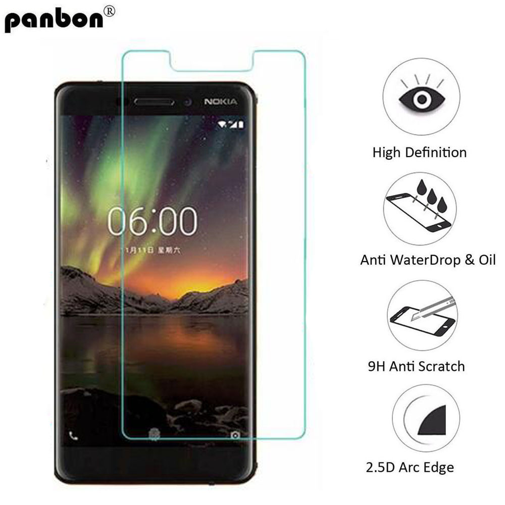 Panbon Original Tempered Glass for Nokia 6.1 Screen Protector For Nokia 6 2018 glass Premium Protective Toughened