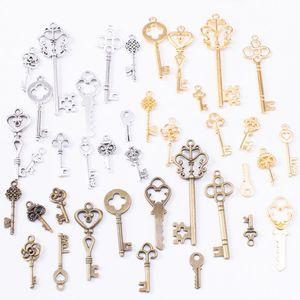 Микс 117 шт винтажные Подвески Ключ античная бронза сплав цинка Fit браслет ожерелье DIY Металлические Ювелирные изделия фурнитура 10012